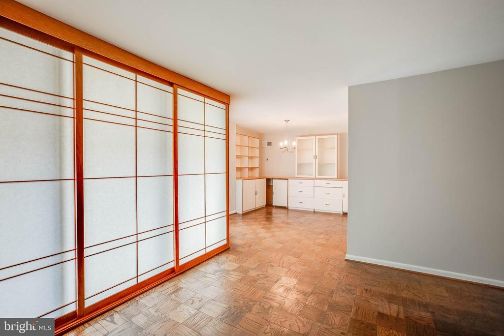 View with Opaque Custom Privacy Doors Closed - 4620 N PARK AVE #1109E, CHEVY CHASE