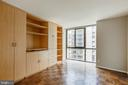 Second Bedroom with Custom Built in - 4620 N PARK AVE #1109E, CHEVY CHASE