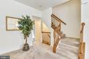 Gracious staircase continues to the lower level - 20529 ASHLEY TER, STERLING