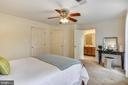 The master bedroom has a large walk-in closet - 20529 ASHLEY TER, STERLING