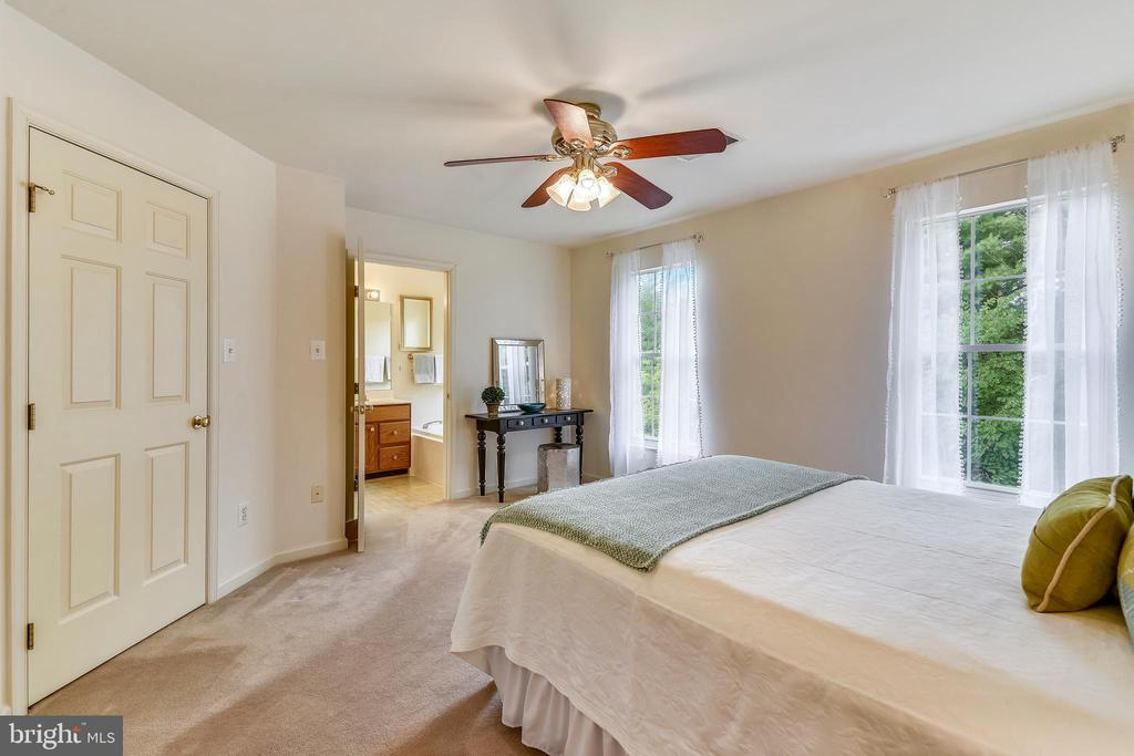 Master bedroom is a calm oasis backing to trees - 20529 ASHLEY TER, STERLING