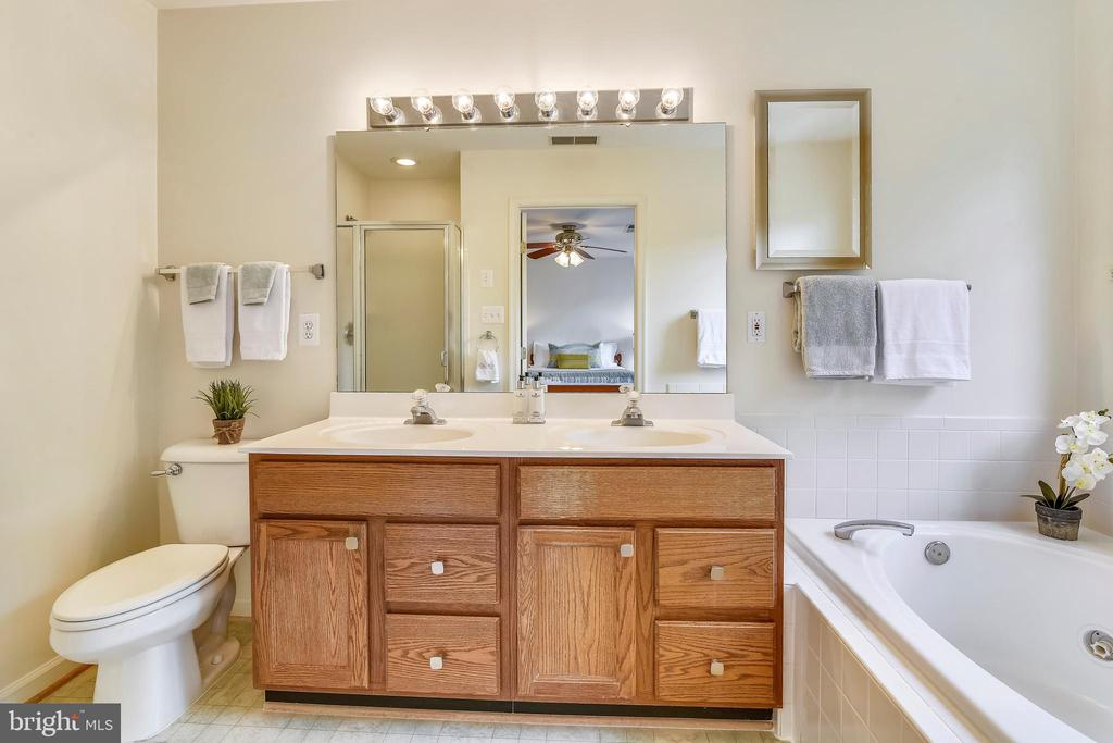 The spa master bath features a large jetted tub - 20529 ASHLEY TER, STERLING