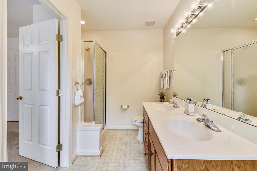 Master bath has a double vanity & separate shower - 20529 ASHLEY TER, STERLING