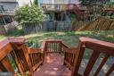 Stairs from patio to family room - 43190 CENTER ST, CHANTILLY