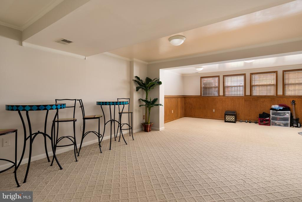 Enormous rec room in English basement - 43190 CENTER ST, CHANTILLY