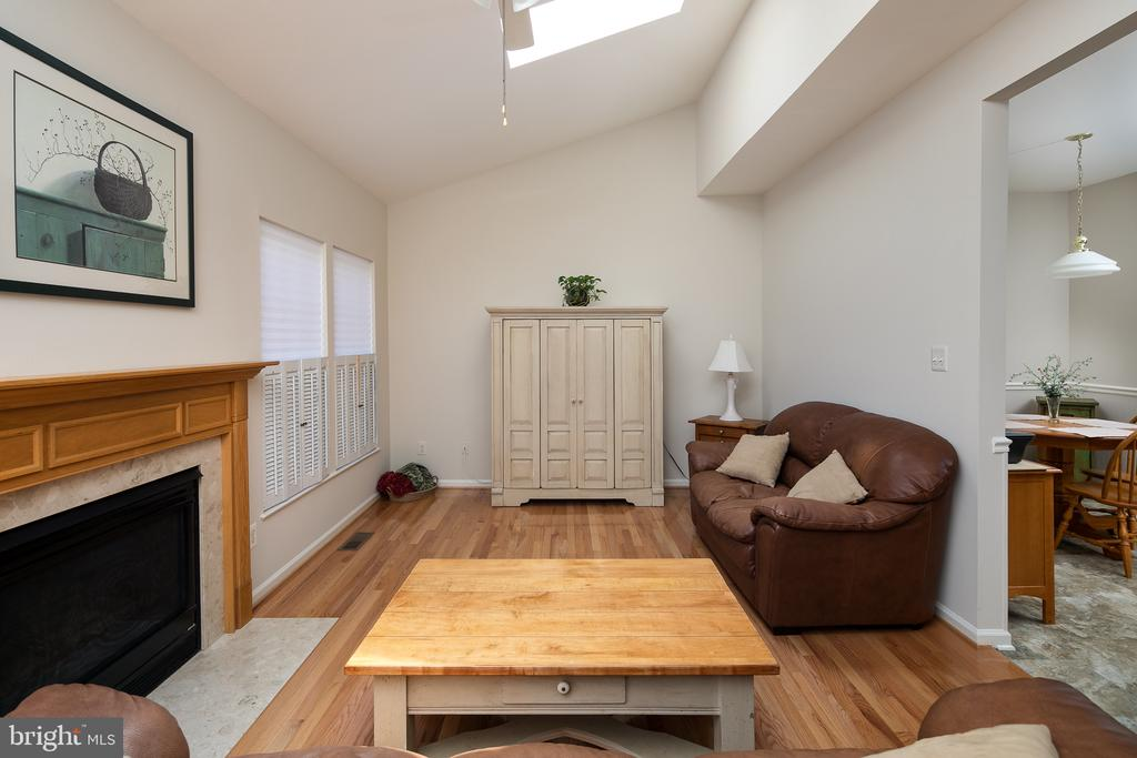 Family Rm with gas FP, skylight & vaulted ceiling - 43190 CENTER ST, CHANTILLY