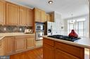 Wall oven and built in microwave. - 5034 GARDNER DR, ALEXANDRIA
