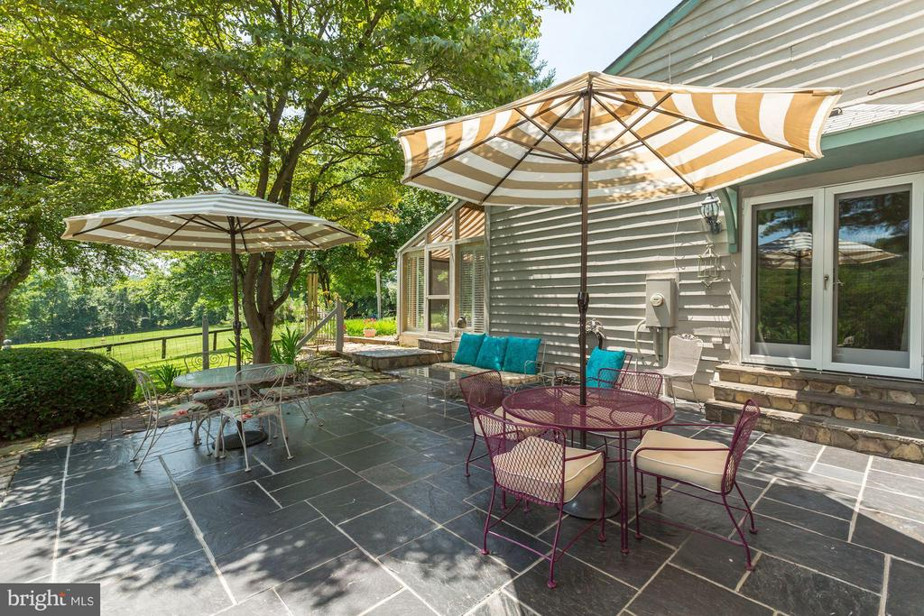 Nicely appointed patio off of living room - 23009 COBB HOUSE RD, MIDDLEBURG