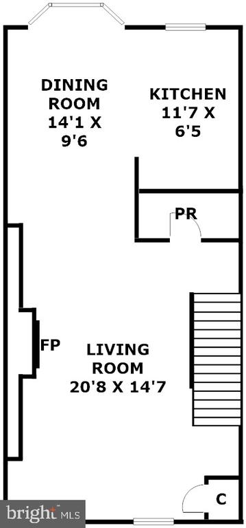Main Level - 6922 LITTLE FALLS RD #6922, ARLINGTON