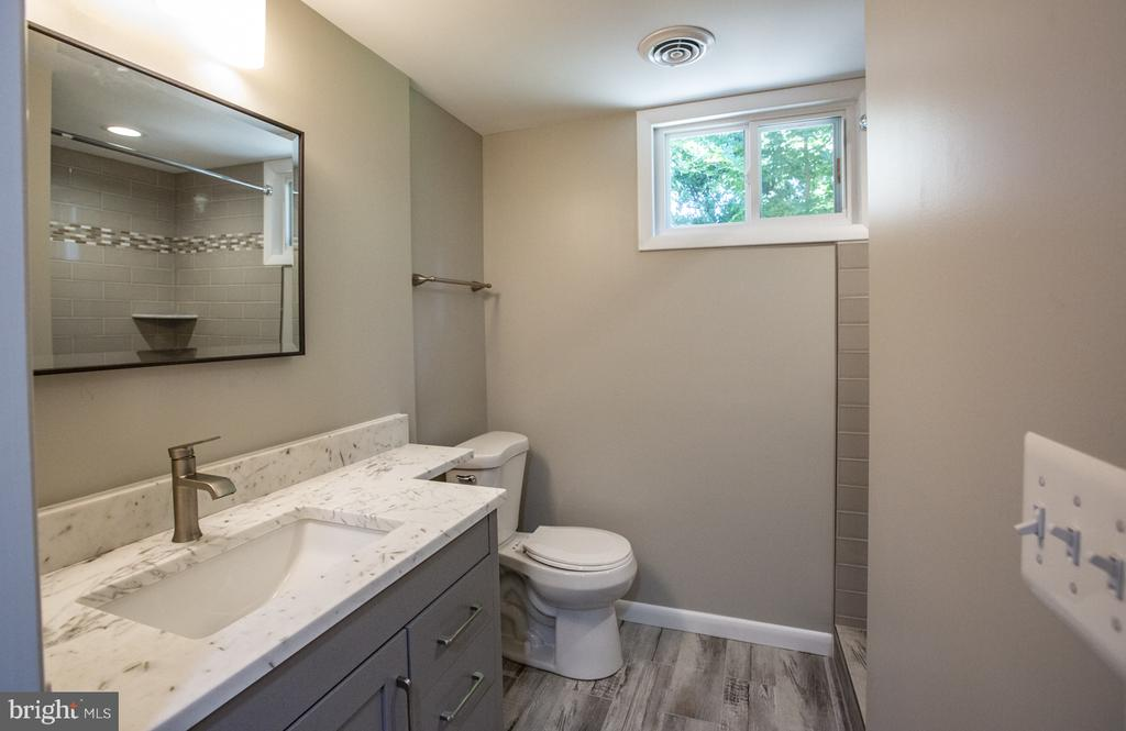 Lower level custom full bath - 9226 DELLWOOD DR, VIENNA
