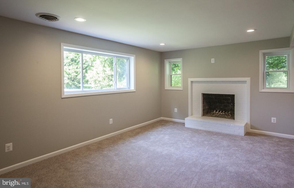 Large lower level family room - 9226 DELLWOOD DR, VIENNA