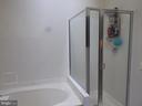 Master bathroom with separate tub & shower - 305 FALKIRK CT, FREDERICKSBURG