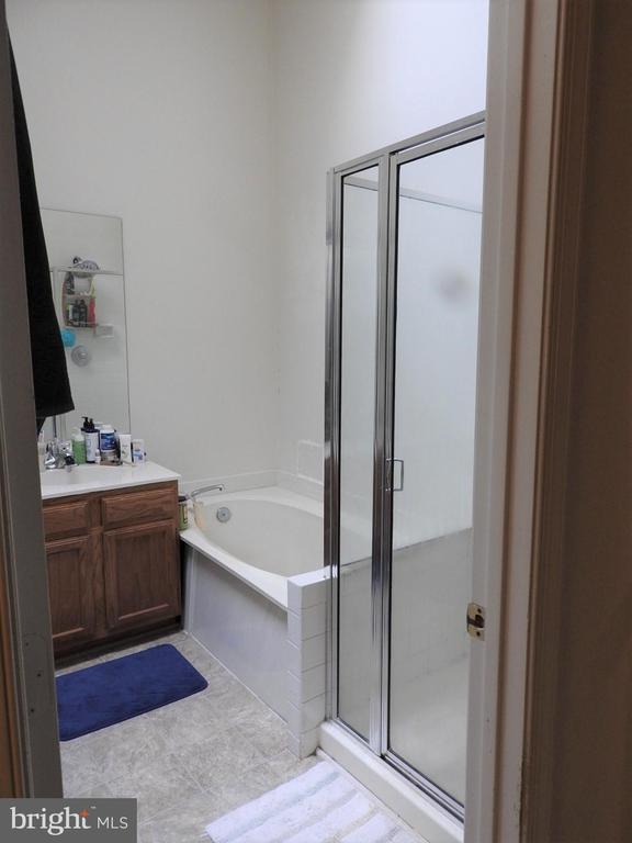 Master bathroom with dual vanities - 305 FALKIRK CT, FREDERICKSBURG