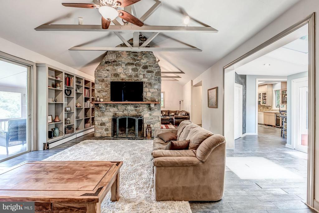 Family Room with Wood Burning Fireplace - 17787 DRY MILL RD, LEESBURG