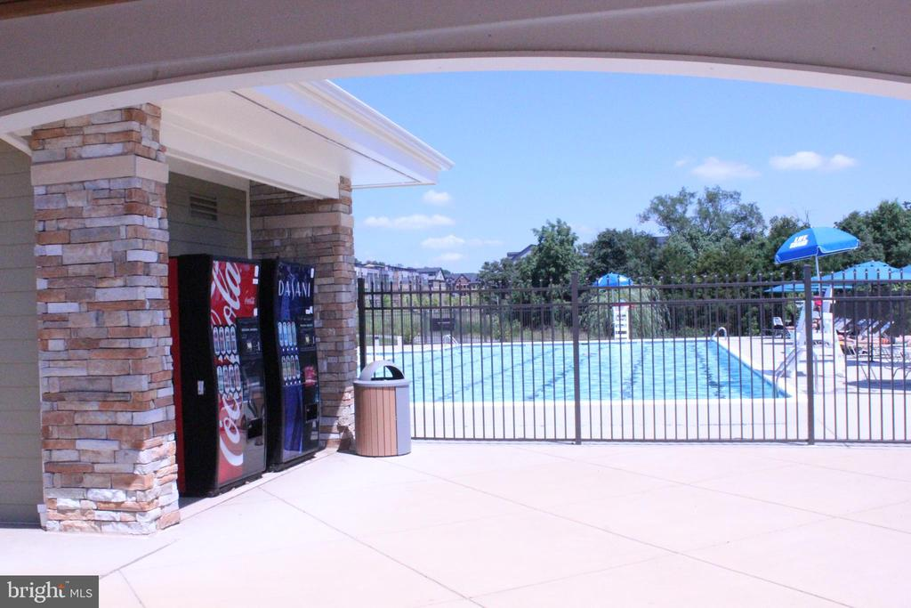 POOL VIEW FROM PICNIC AREA - 22291 PHILANTHROPIC DR, ASHBURN