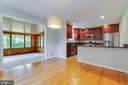 Sunroom right off kitchen/dining room - 1007 COLLINGWOOD RD, ALEXANDRIA