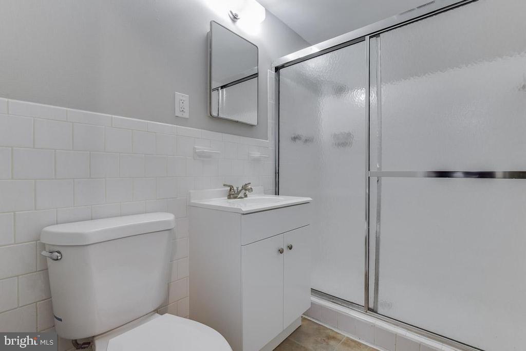 Lower Level Bathroom - updated shower tile - 1007 COLLINGWOOD RD, ALEXANDRIA
