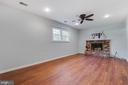 Basement Family Room-additional entertaining space - 1007 COLLINGWOOD RD, ALEXANDRIA