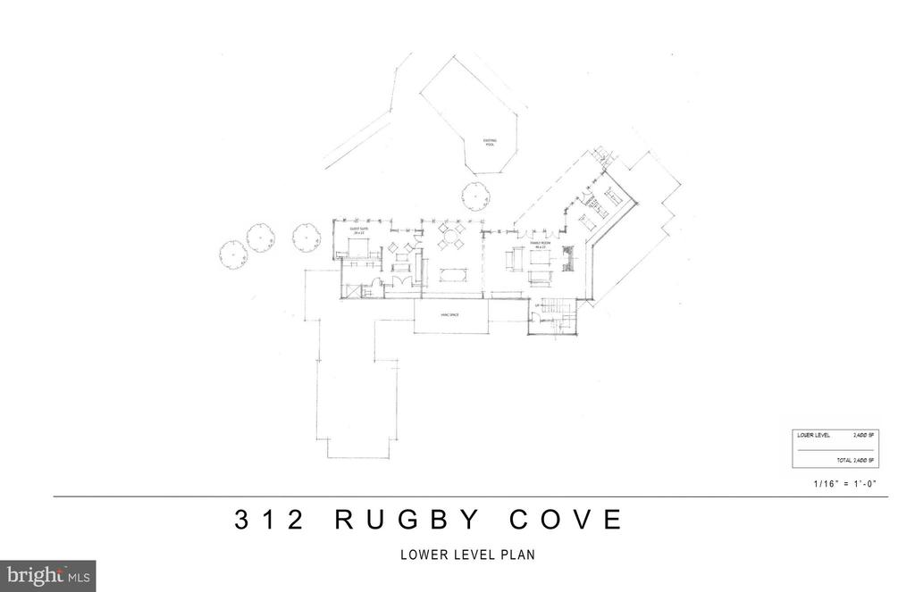 Proposed Renovation- Lower Level - 312 RUGBY COVE RD, ARNOLD