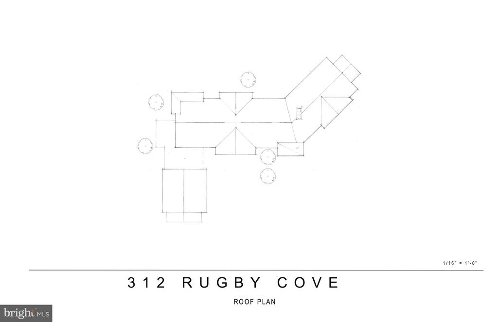 Proposed Renovation- Roof Plan - 312 RUGBY COVE RD, ARNOLD