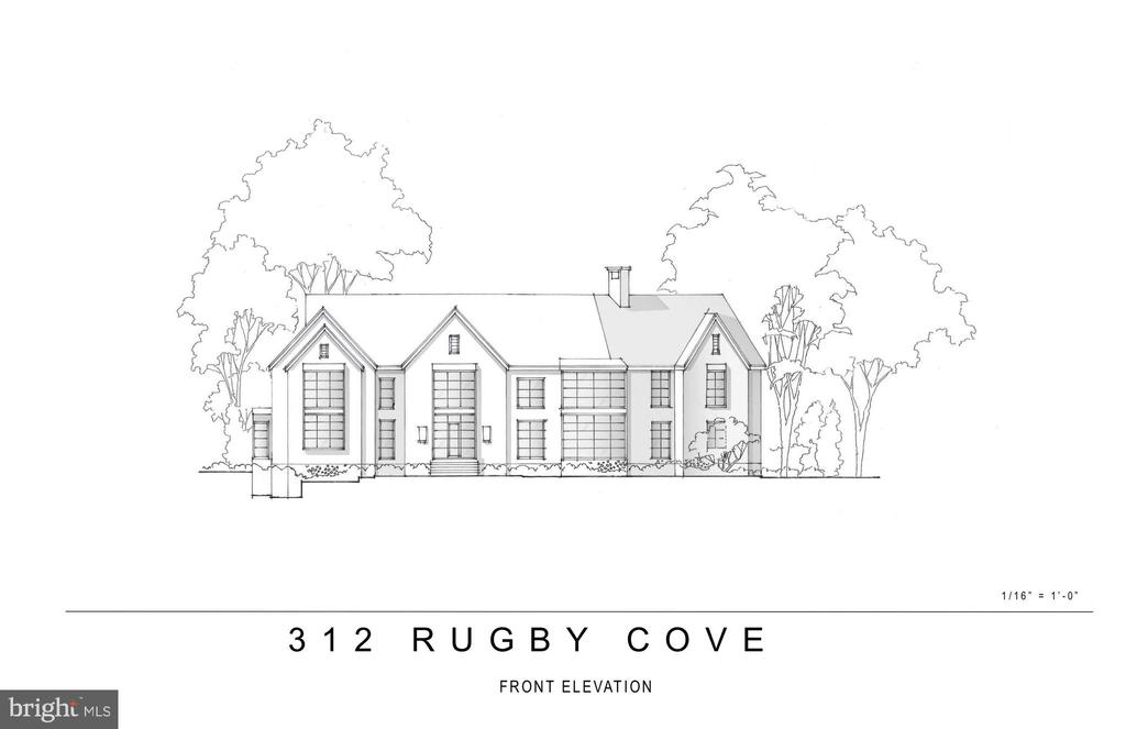 Proposed Renovation-Front View - 312 RUGBY COVE RD, ARNOLD