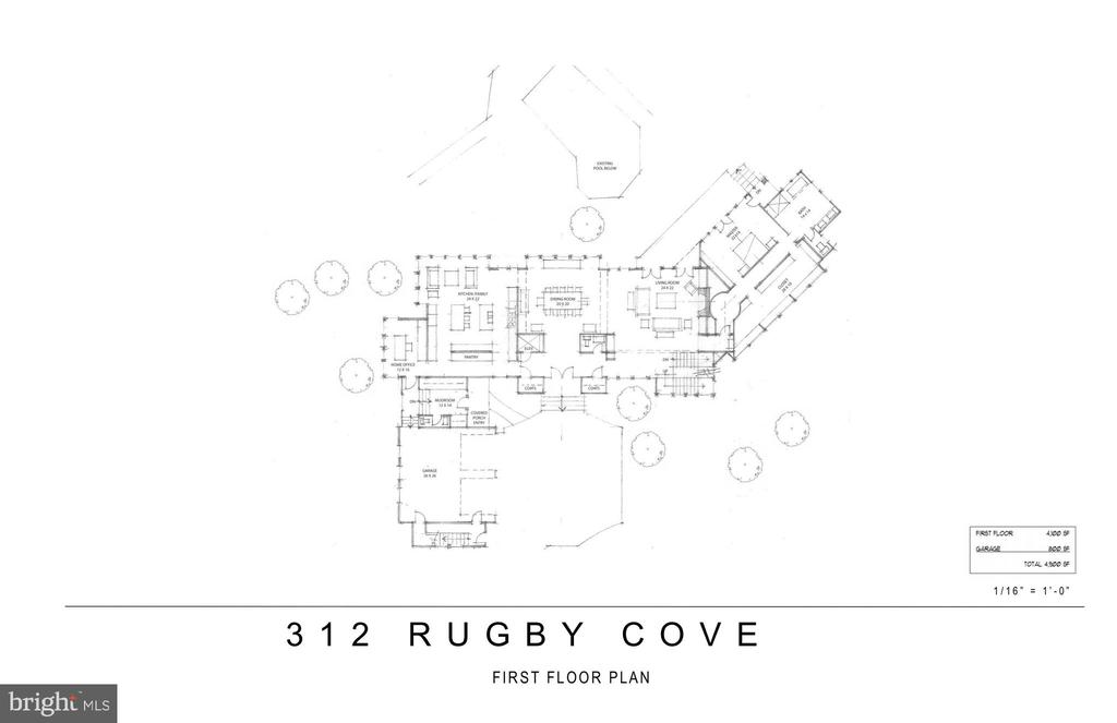 Proposed Renovation-First Floor - 312 RUGBY COVE RD, ARNOLD