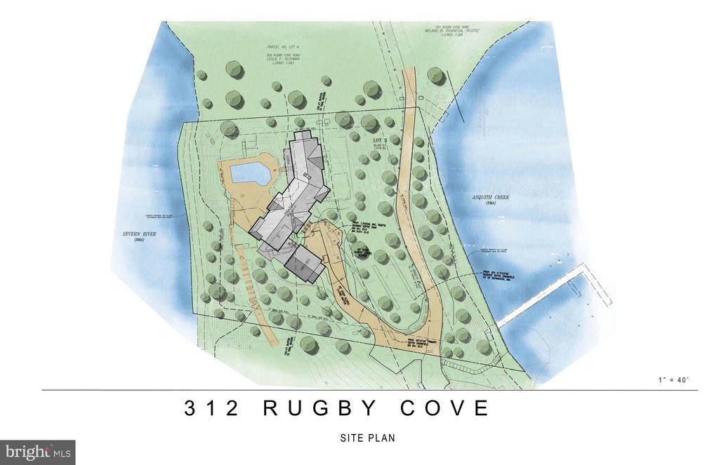Proposed Renovation- Aerial View - 312 RUGBY COVE RD, ARNOLD