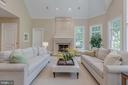 Family Room with Fireplace - 916 MACKALL AVE, MCLEAN