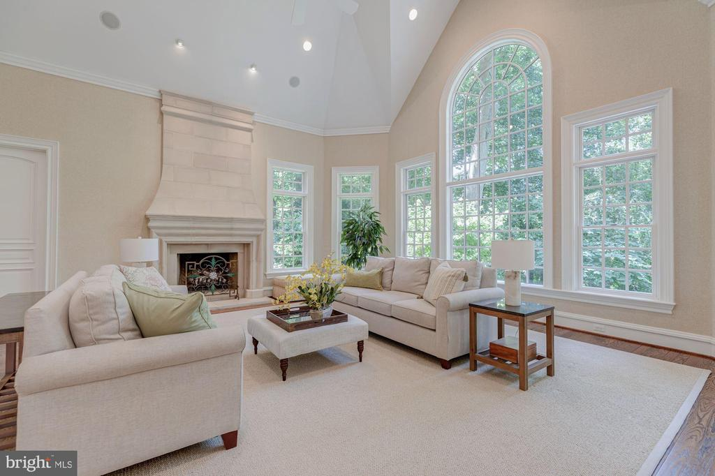 Family Room Overlooking Backyard - 916 MACKALL AVE, MCLEAN