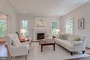 Living Room with Fireplace - 916 MACKALL AVE, MCLEAN