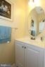 Main level powder room with new vanity - 252 GOLDEN LARCH TER NE, LEESBURG