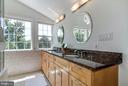 Master Bath with Double Sinks and Vaulted Ceiling - 5530 11TH ST N, ARLINGTON