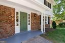 You and guests stay dry with your covered porch - 5119 LAVERY CT, FAIRFAX