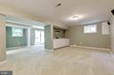 Family room has built in cabinets - 5119 LAVERY CT, FAIRFAX