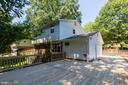 Huge deck just outside side door - 5119 LAVERY CT, FAIRFAX
