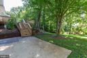 Deck leads down to lower level patio - 5119 LAVERY CT, FAIRFAX