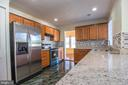 Kitchen with New Granite Counter tops - 107 BAKER LN, STERLING