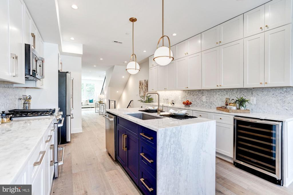 Herringbone Backsplash and Custom Built Island - 410 K ST NE, WASHINGTON