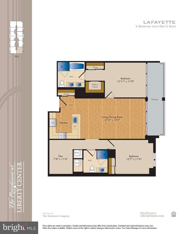 Floor plan - 888 N QUINCY ST #312, ARLINGTON