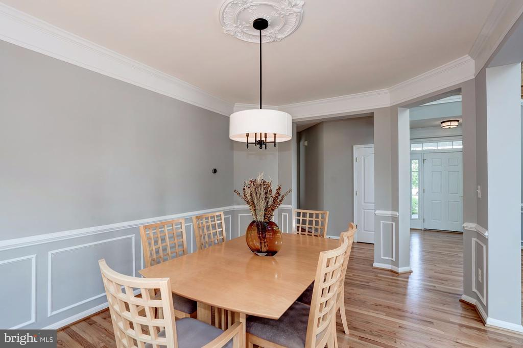 Dining Room with Extensive Trim - 22022 SUNSTONE CT, BROADLANDS