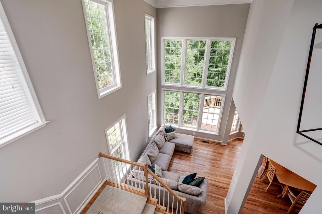 Dramatic 2nd Story View of Family Room - 22022 SUNSTONE CT, BROADLANDS