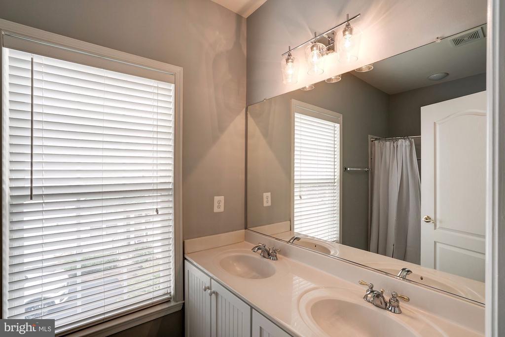 Hall Bathroom with Updated Lighting - 22022 SUNSTONE CT, BROADLANDS