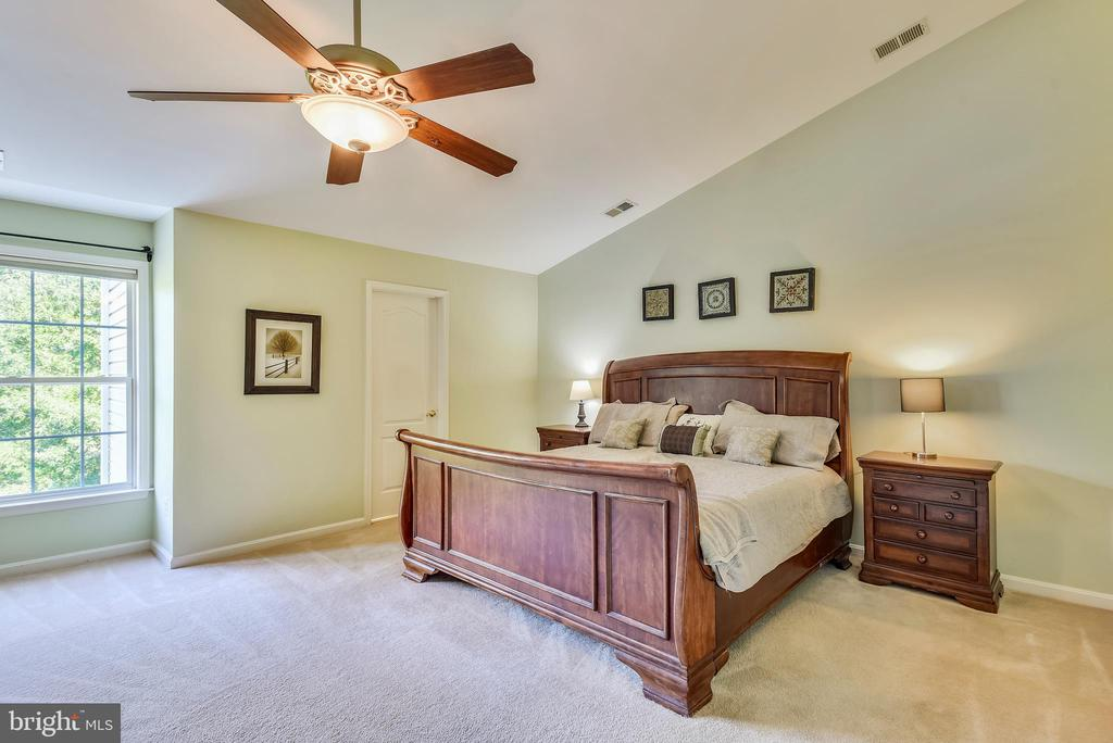 Master bedroom with vaulted ceilings - 21935 WINDY OAKS SQ, BROADLANDS