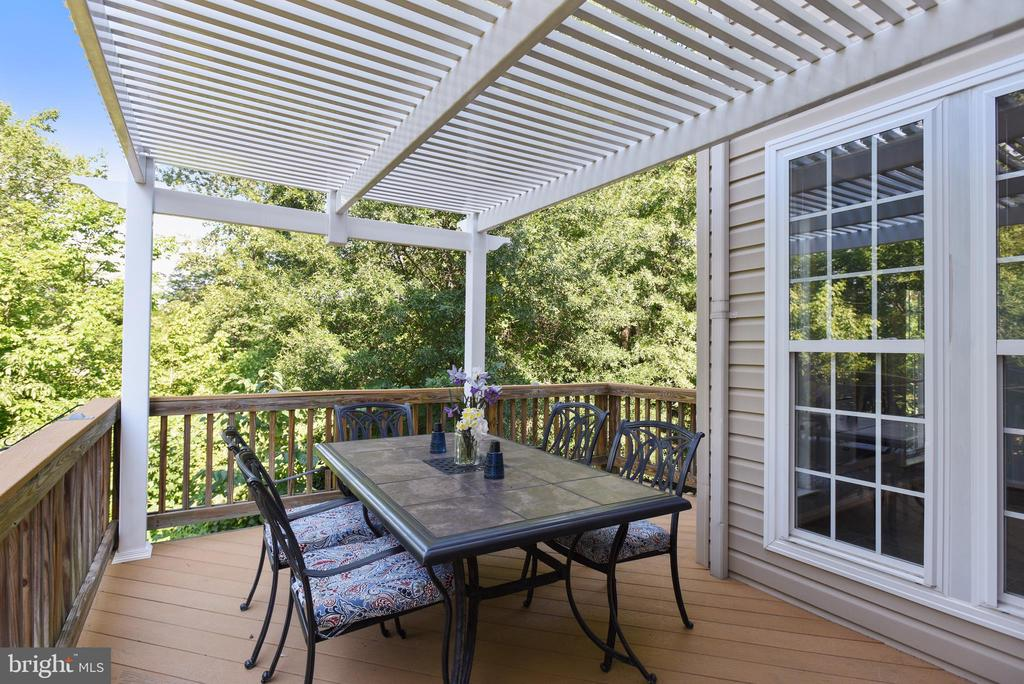 Spacious deck overlooks wooded common area - 21935 WINDY OAKS SQ, BROADLANDS