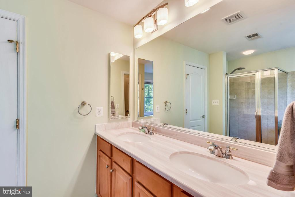 Master bath dual sink vanity - 21935 WINDY OAKS SQ, BROADLANDS