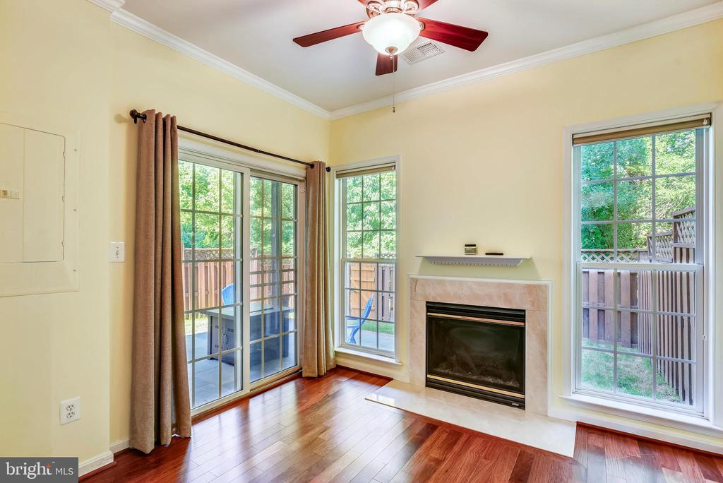 Game room with gas fireplace - 21935 WINDY OAKS SQ, BROADLANDS
