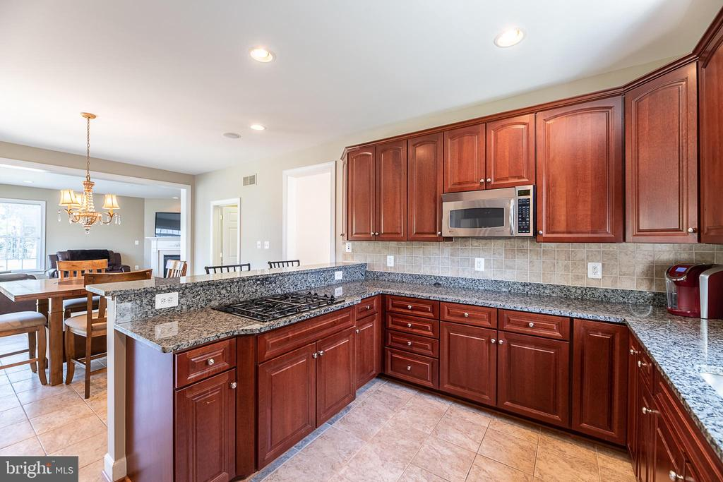 Gourmet kitchen with granite counters and cooktop - 23068 PECOS LN, BRAMBLETON