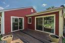 Deck behind Kitchen and Dinning room - 414 AVONDALE DR, STERLING