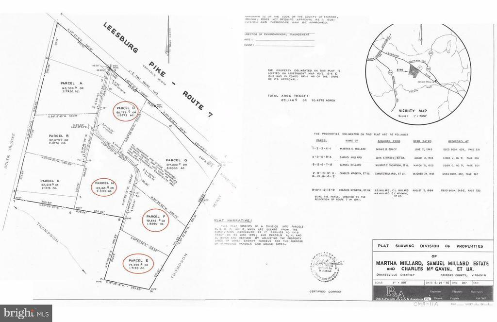 Plat of 4 lots - 10231 LEESBURG PIKE, VIENNA