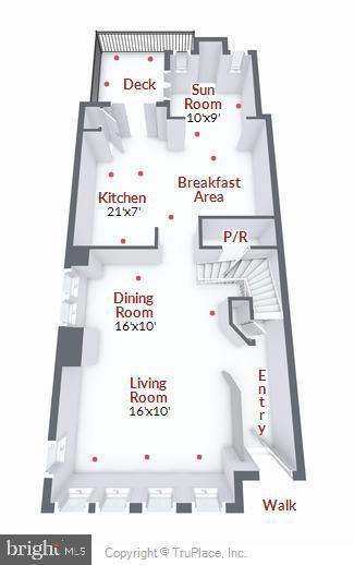 Main level floor plan - 21935 WINDY OAKS SQ, BROADLANDS